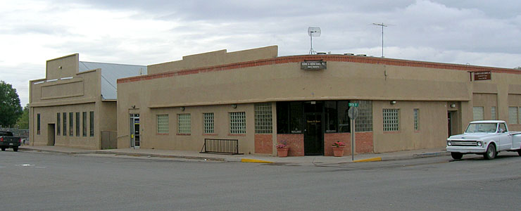 In the Socorro business district