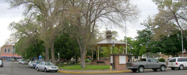 Socorro Plaza on a Saturday morning