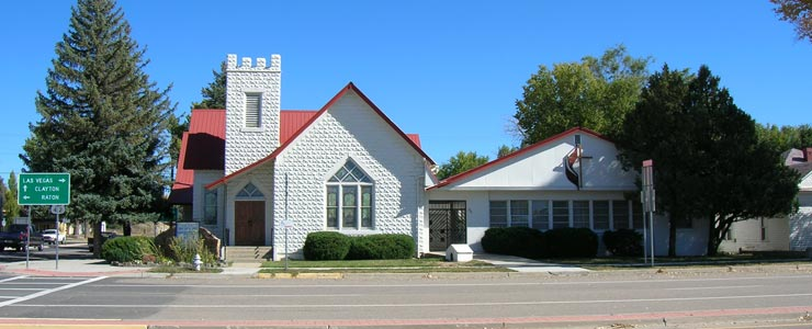 First United Methodist Church in downtown Springer