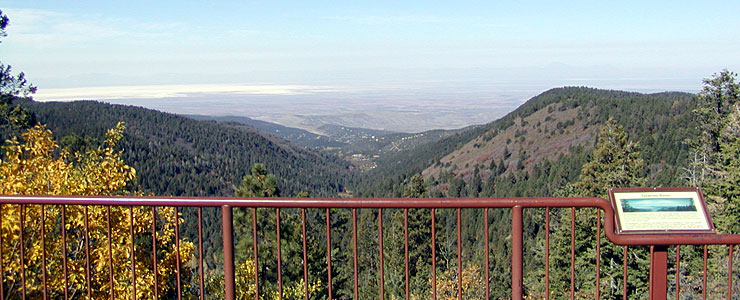 Western view from an overlook on the Sunspot Scenic Byway