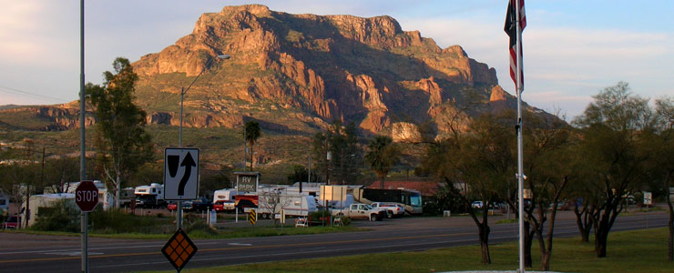Busiest area of Superior, Arizona