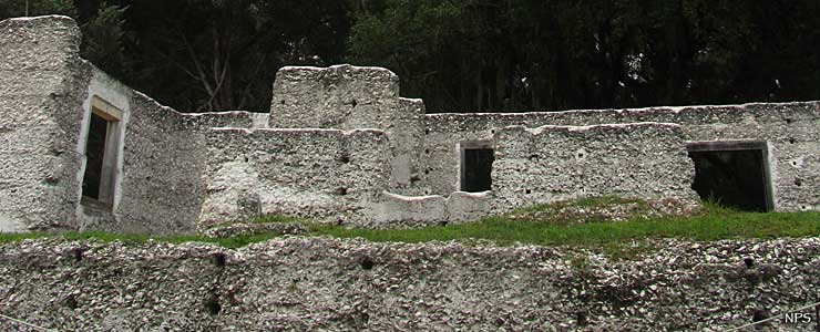 Tabby ruins at the south end of the island