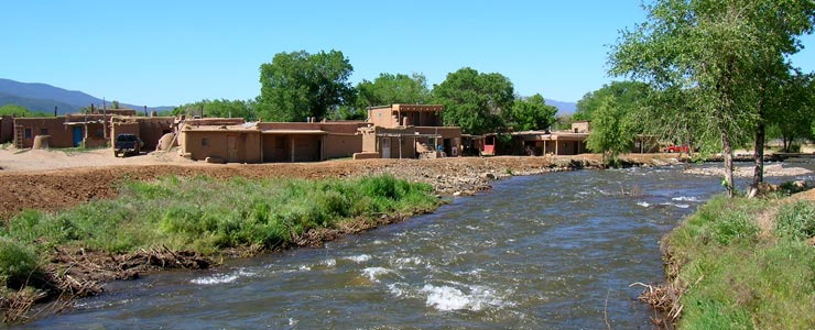The river through Taos Pueblo