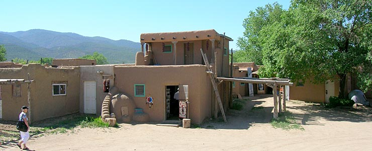 One of the shops in Taos Pueblo