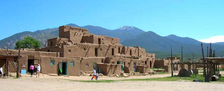 The north building of San Geronimo de Taos Pueblo