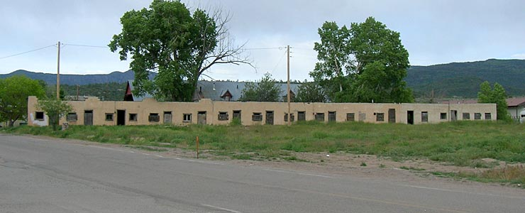 An abandoned motel in downtown Tierra Amarilla