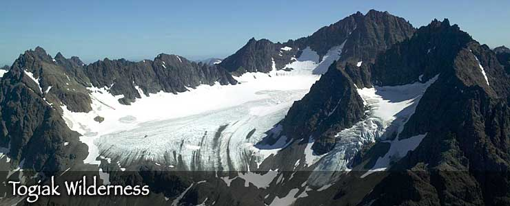 A glacier in Togiak Wilderness