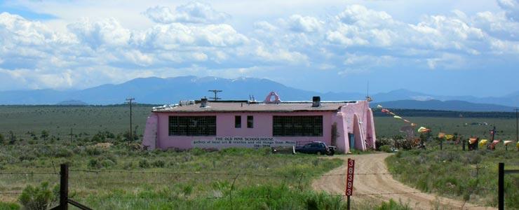 The Pink Schoolhouse in Tres Piedras