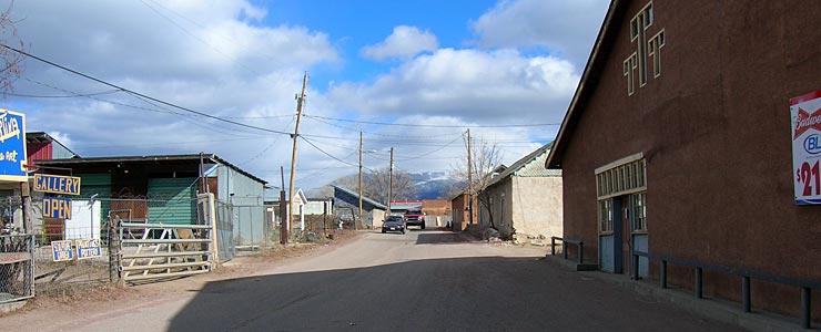 A narrow street in Truchas
