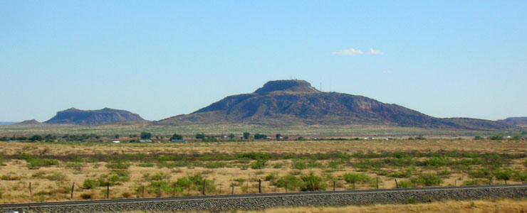 Tucumcari Mountain, east of Tucumcari