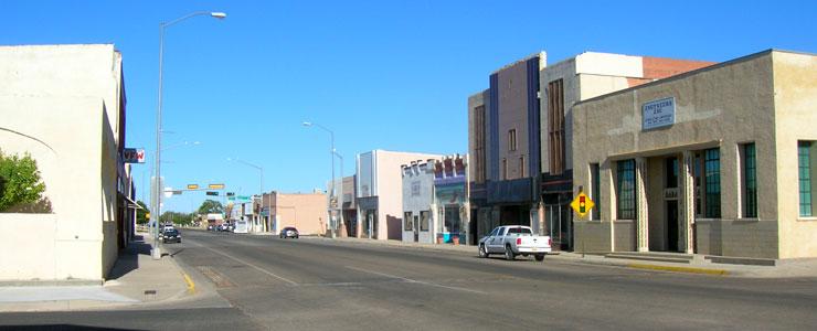 In the historic downtown area of Tucumcari