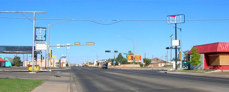 On Route 66 through Tucumcari