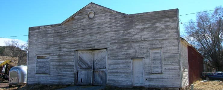 An old warehouse in downtown Watrous