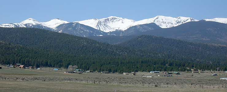 Wheeler Peak, from the Moreno Valley
