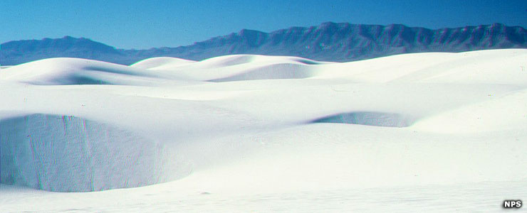Gypsum dunes at White Sands National Monument