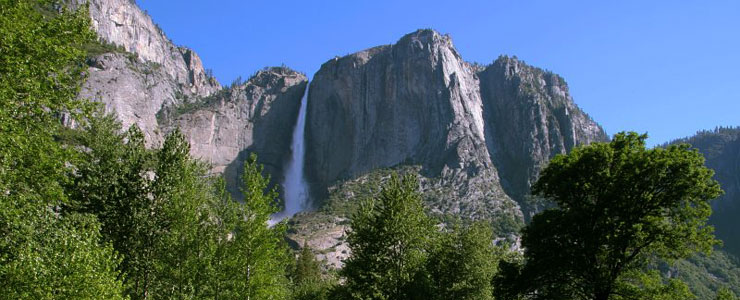 One of the waterfalls in Yosemite Valley