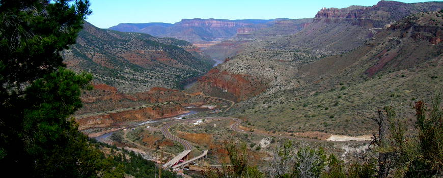 A view of the Salt River Canyon from an overlook on US Highway 60