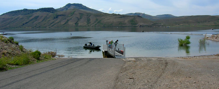 A boat launch on Blue Mesa Lake