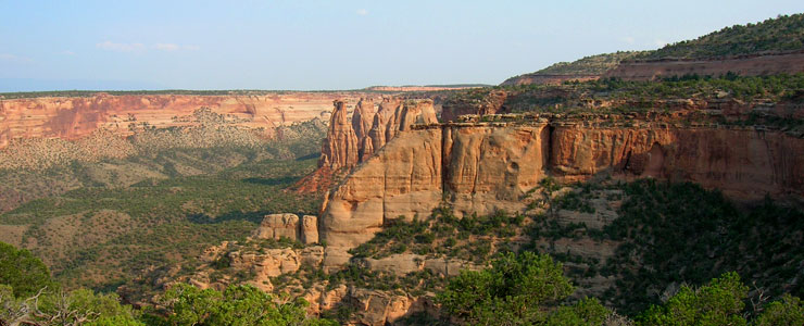 Sandstone formations in Colorado National Monument