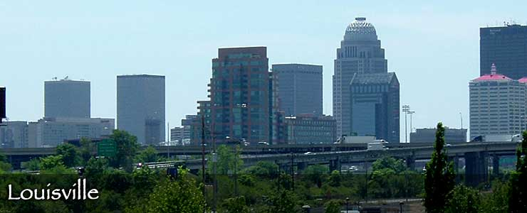 A view of the Louisville skyline