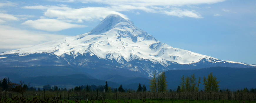 A view of Mount Hood from the north