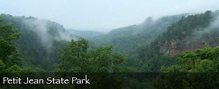 A foggy morning at Petit Jean State Park