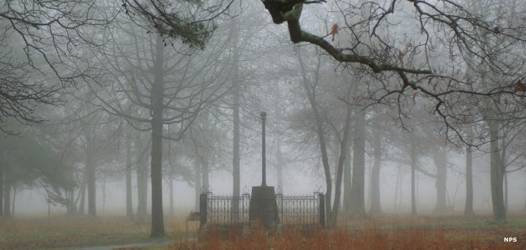 Fog at Cowpens National Battlefield