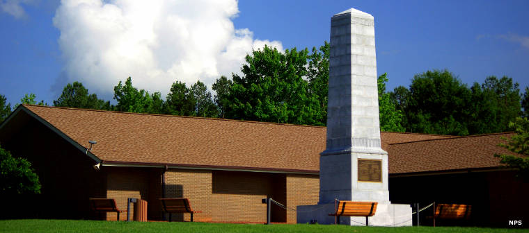 Cowpens Visitor Center and the Washington Monument