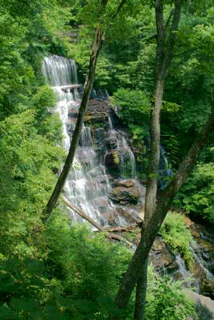 Issaqueena Falls along the Cherokee Foothills Scenic Highway