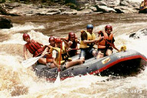 Whitewater rafters on the Chattooga Wild and Scenic River