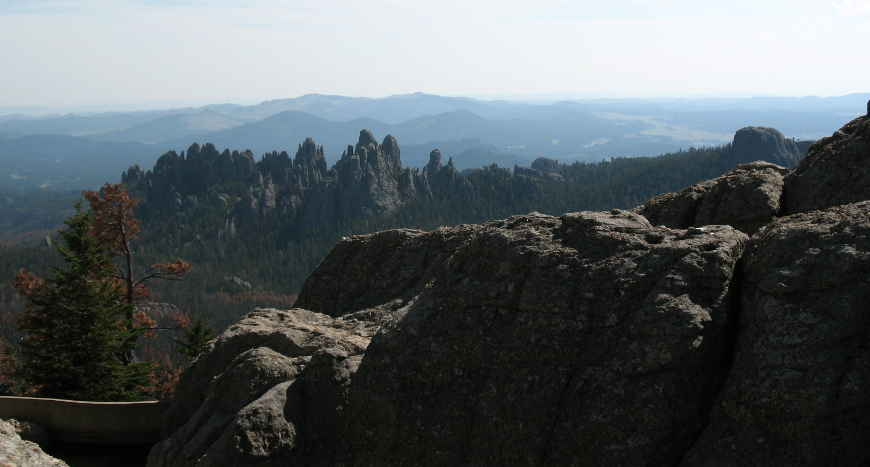 A view of the Needles from Black Elk Peak in Black Hills National Forest