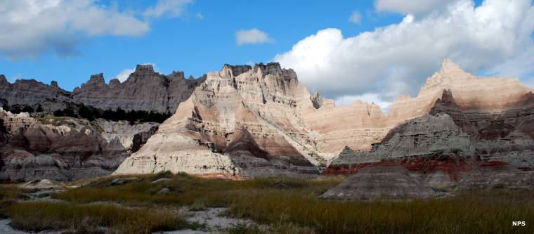 A typical view in Badlands National Park