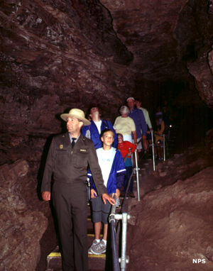 Tour group in Wind Cave