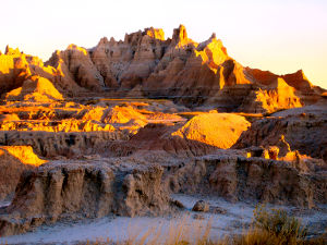 View along the Fossil Exhibit Trail at Badlands National Park