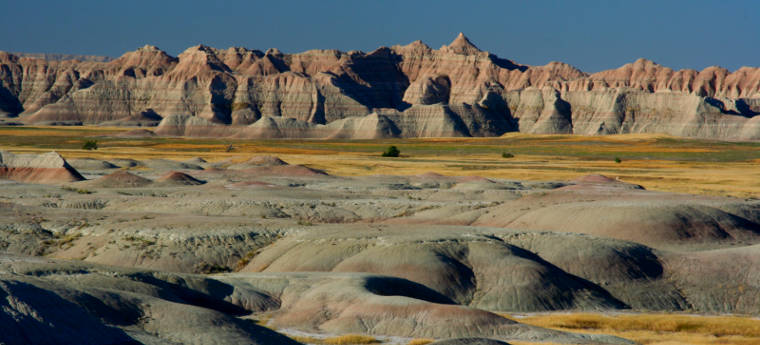 View from the Yellow Mounds Overlook along the Badlands Loop Scenic Byway