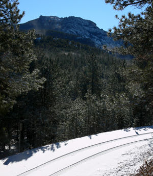 Wildlife Loop Road Scenic Byway in winter