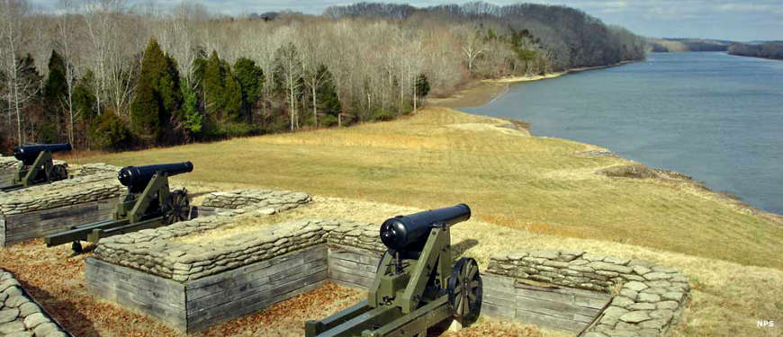 River battery at Fort Donelson National Battlefield