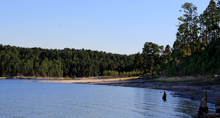 Sam Rayburn Reservoir at Angelina National Forest