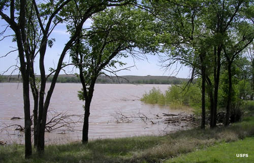 Lake McClellan at McClellan Creek National Grassland