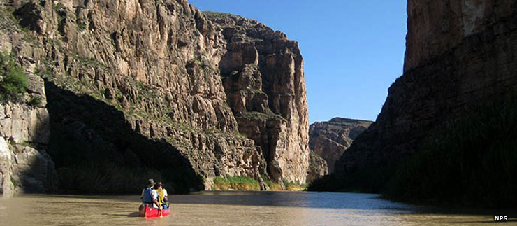 Canoeing in Boquillas Canyon, Rio Grande Wild and Scenic River