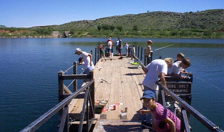 Scene during the annual Fish Fry Tournament at Lake Meredith