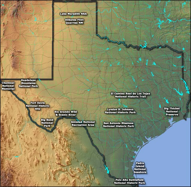 National Park Service Sites In Texas Texas National Park Service - Texas national parks