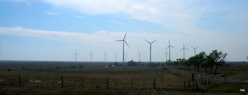 Windmills along the Texas Plains Trail