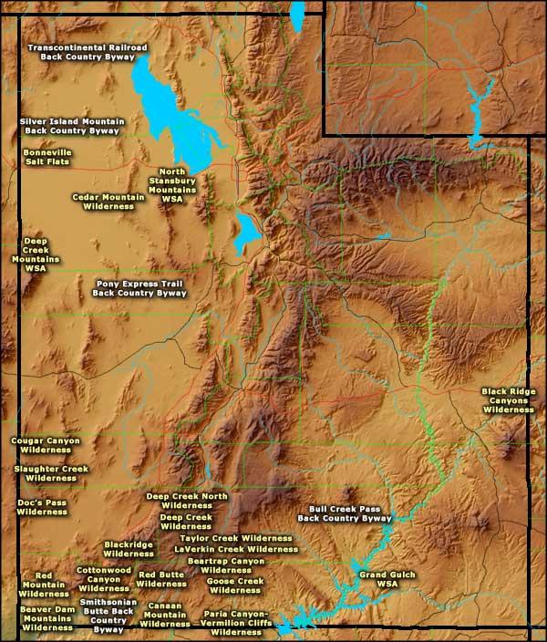 Bureau of Land Management Sites in Utah Utah BLM Sites