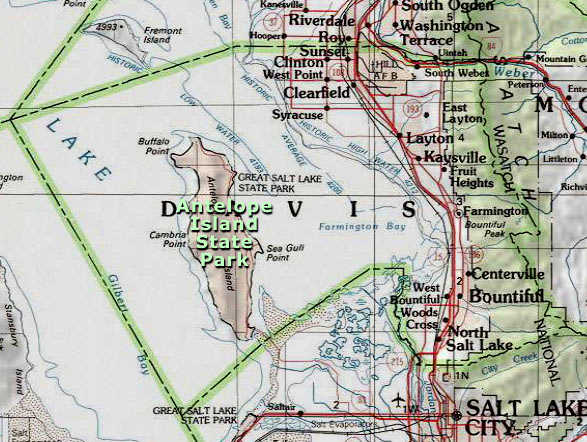 Area map of Davis County