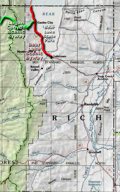 Rich County area map