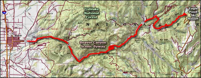 Beaver Canyon area map