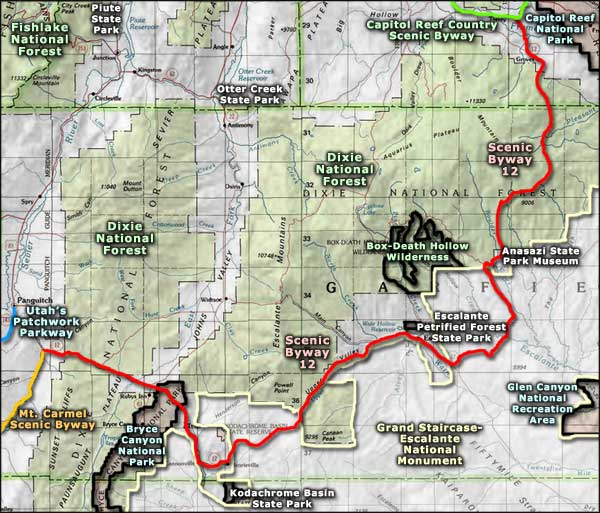 Grand Staircase-Escalante National Monument area map