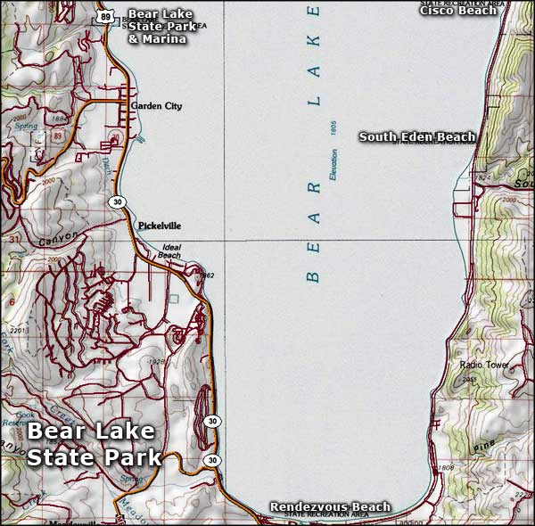 Bear Lake State Park map