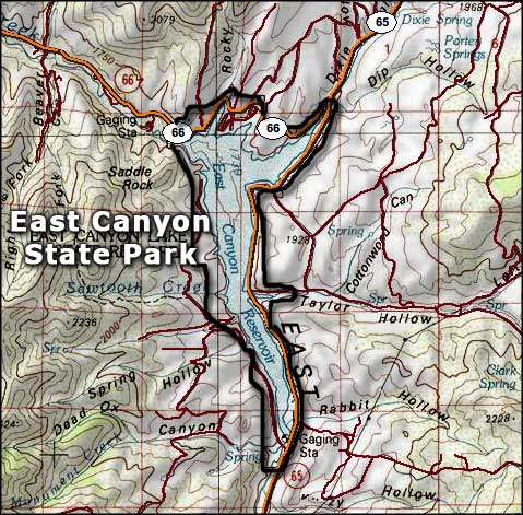 East Canyon State Park map